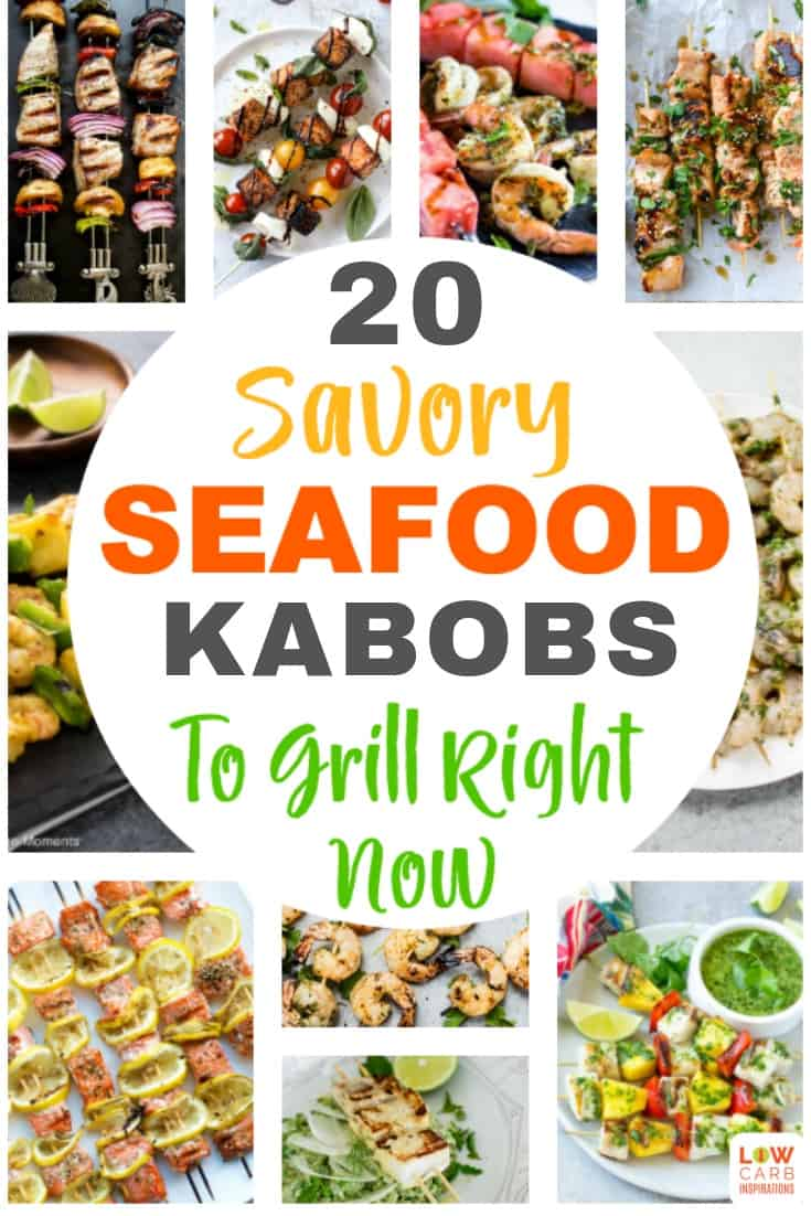 These savory seafood kabobs are the perfect choice for a delicious weeknight meal or a summer backyard party.