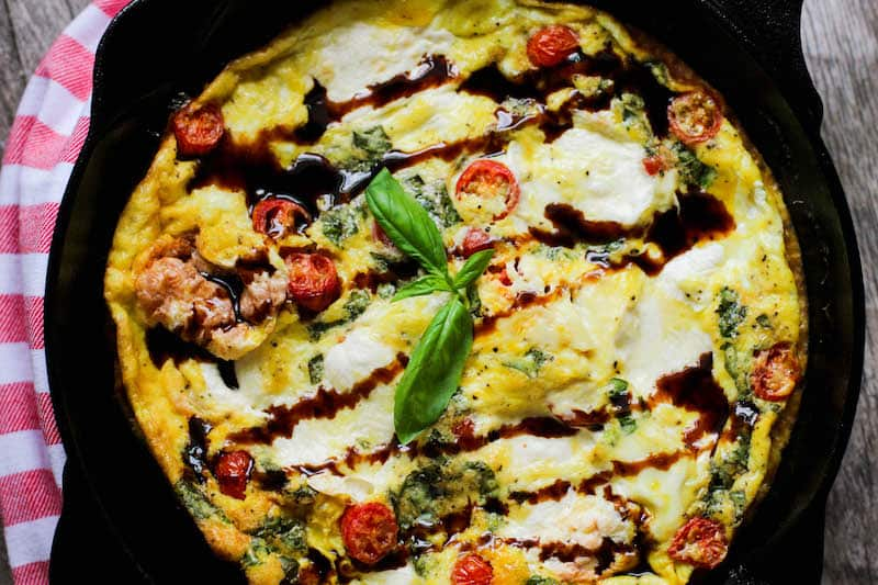 Easy Low Carb Bruschetta Frittata Recipe