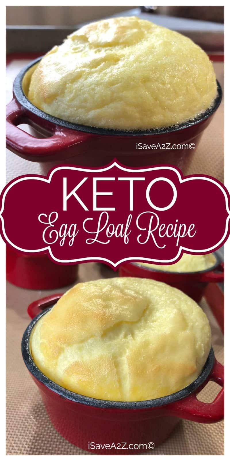 Keto Egg Loaf Recipe pinterest