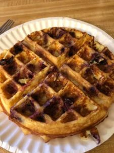Keto Fluffy Waffles with Blueberries