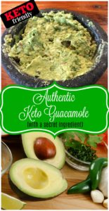 Authentic Keto Guacamole Recipe with a secret ingredient!