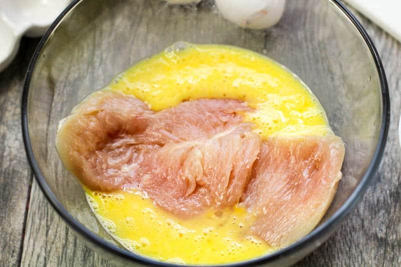 chicken in egg wash