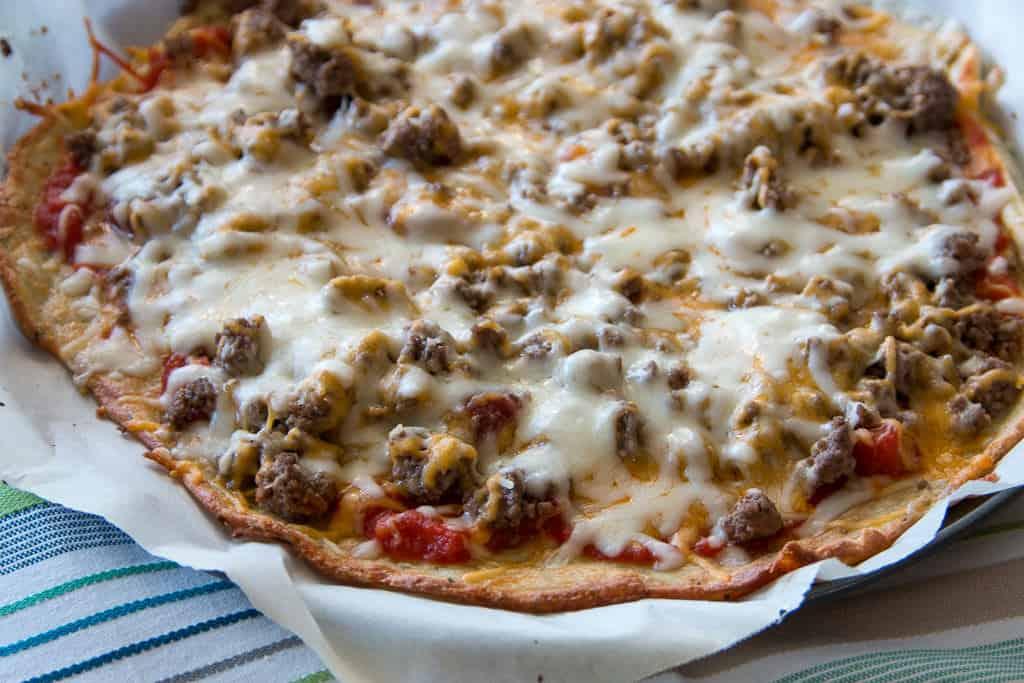 Keto BLT Pizza Made with Fathead Dough!