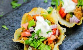 Keto Cheese Shell Taco Cups Recipe