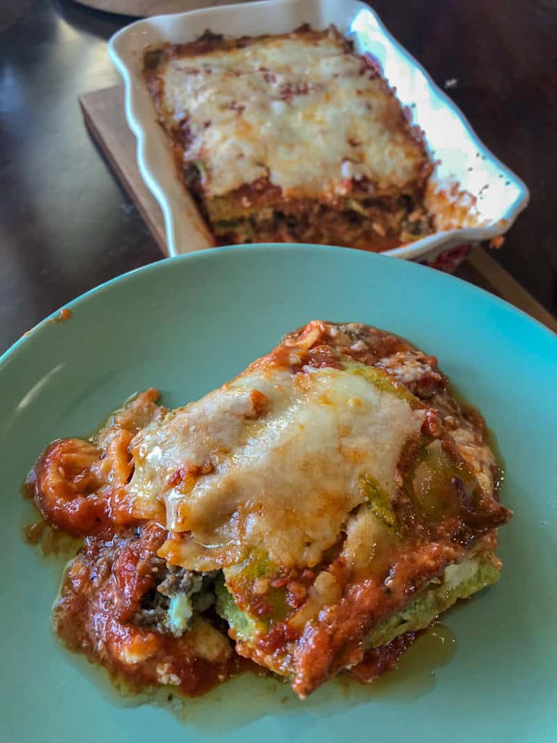 Keto lasagna made with Keto noodles