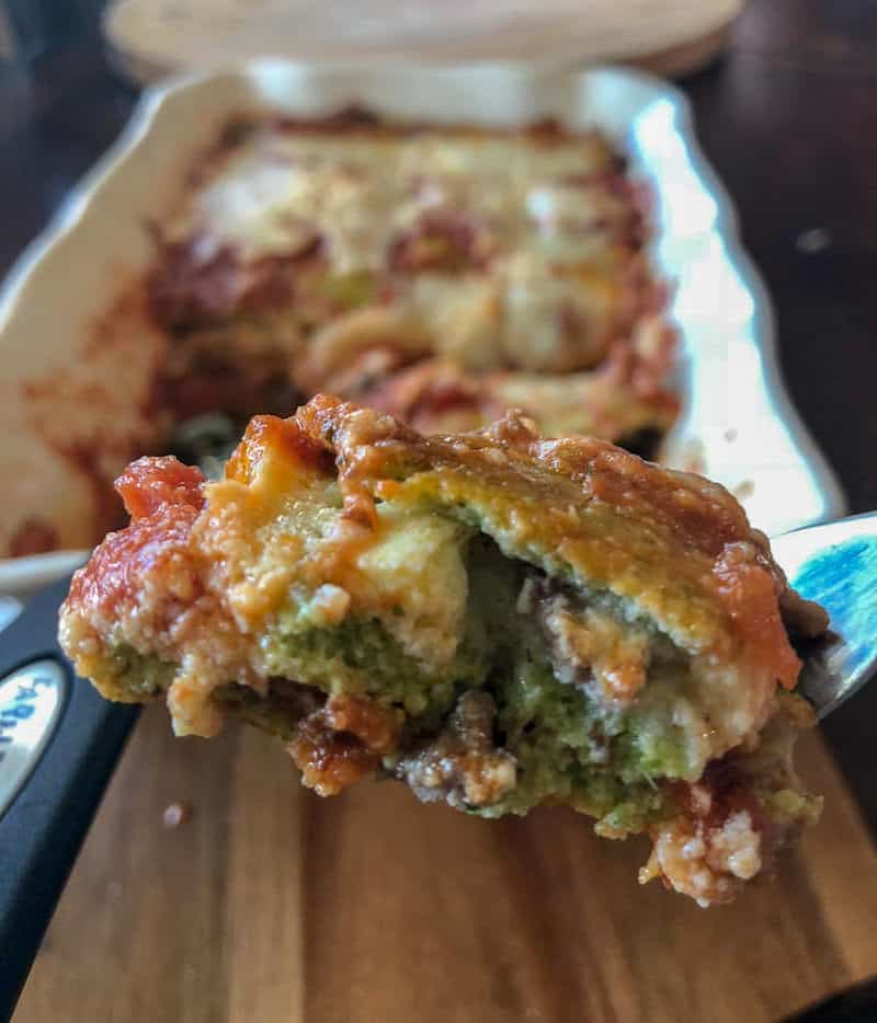 Keto lasagna made with Keto noodles