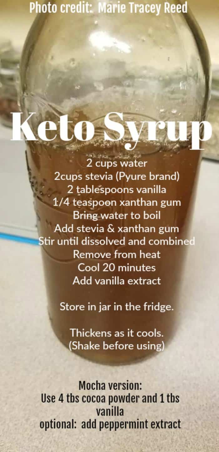 Keto Simple Syrup Vanilla And Mocha Peppermint Flavors Isavea2z Com