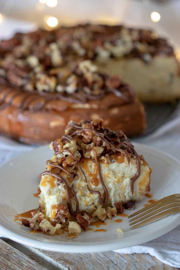 Keto Caramel Pecan Turtle Cheesecake Recipe