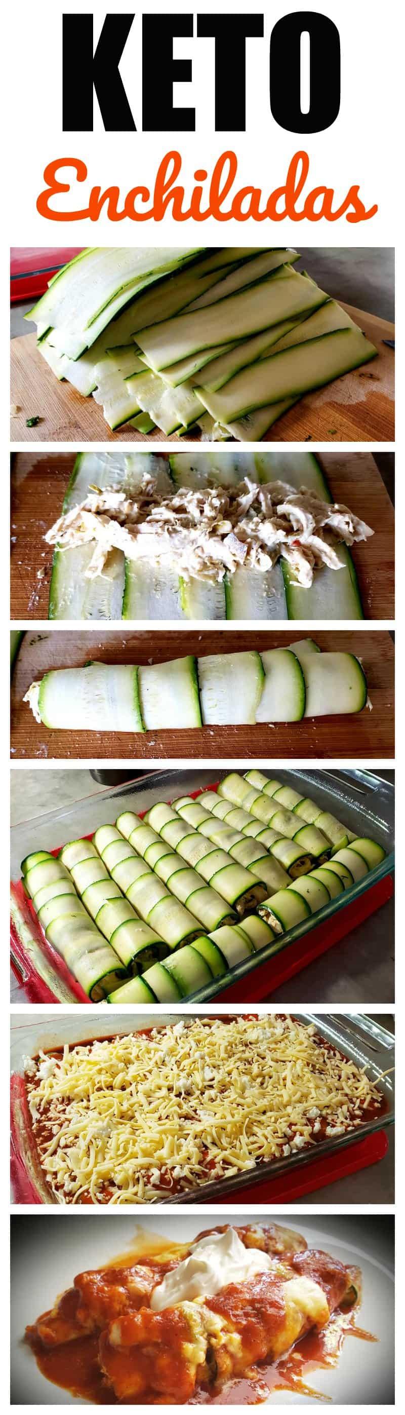 Keto Chicken and Cheese Enchiladas Recipe