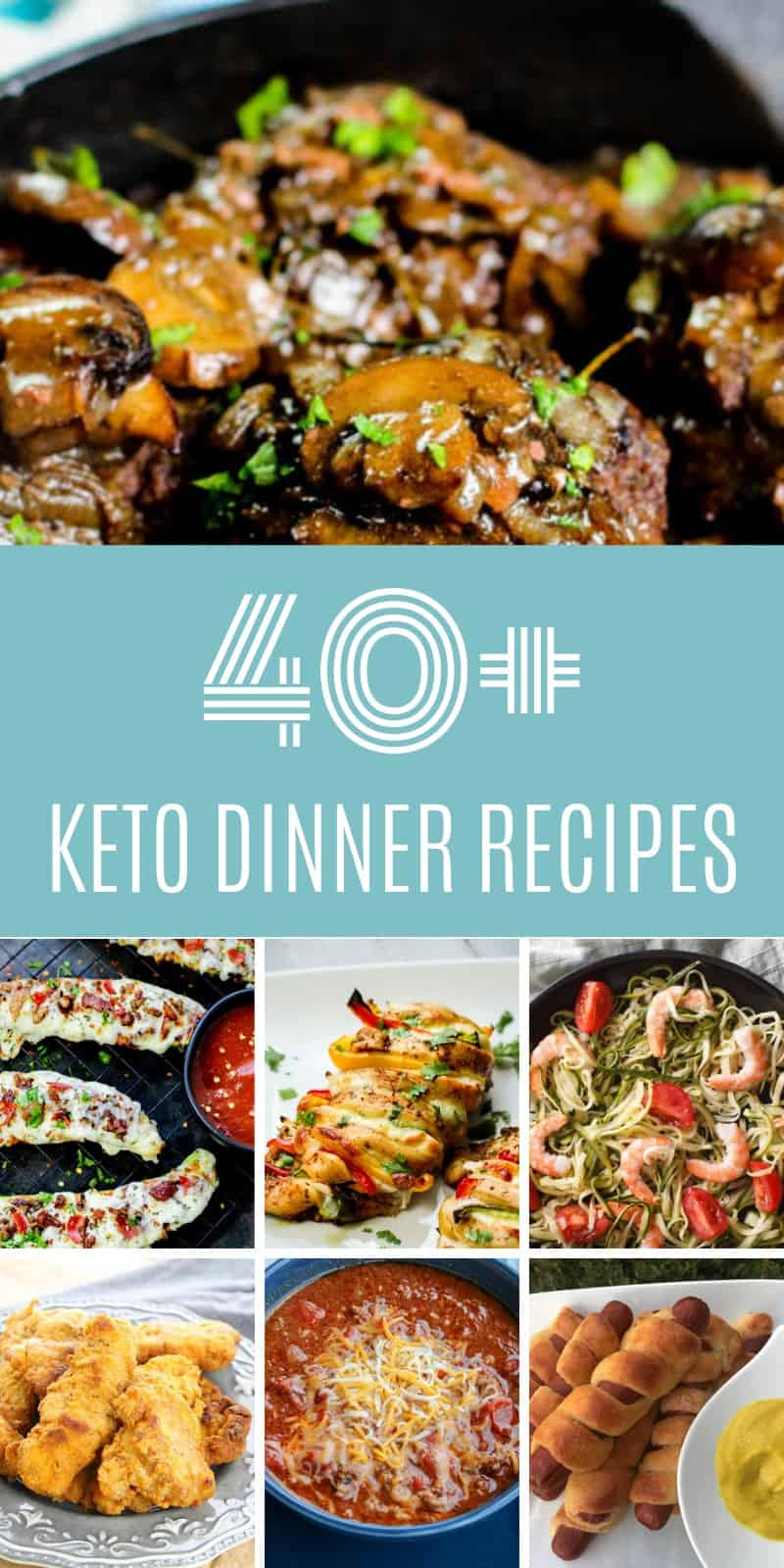 These 40+ keto dinner recipes are all amazing and I know you are going to love them too! Add a few to your meal plan this week and try them all over the next few weeks...you won't regret it!