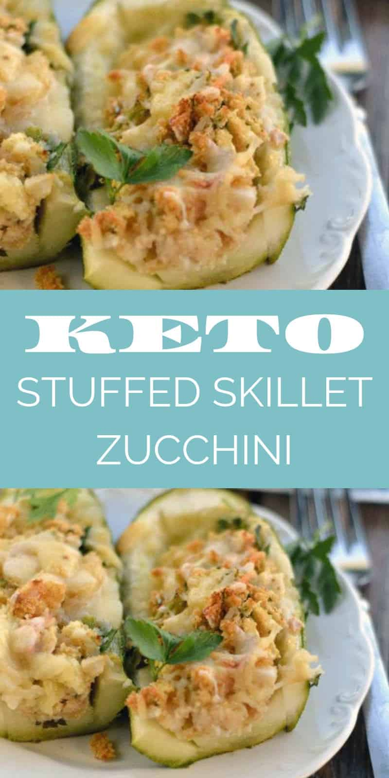This skillet stuffed zucchini with crab and cheese is to die for! You are going to love how easy this keto recipe is to make and how delicious it tastes!