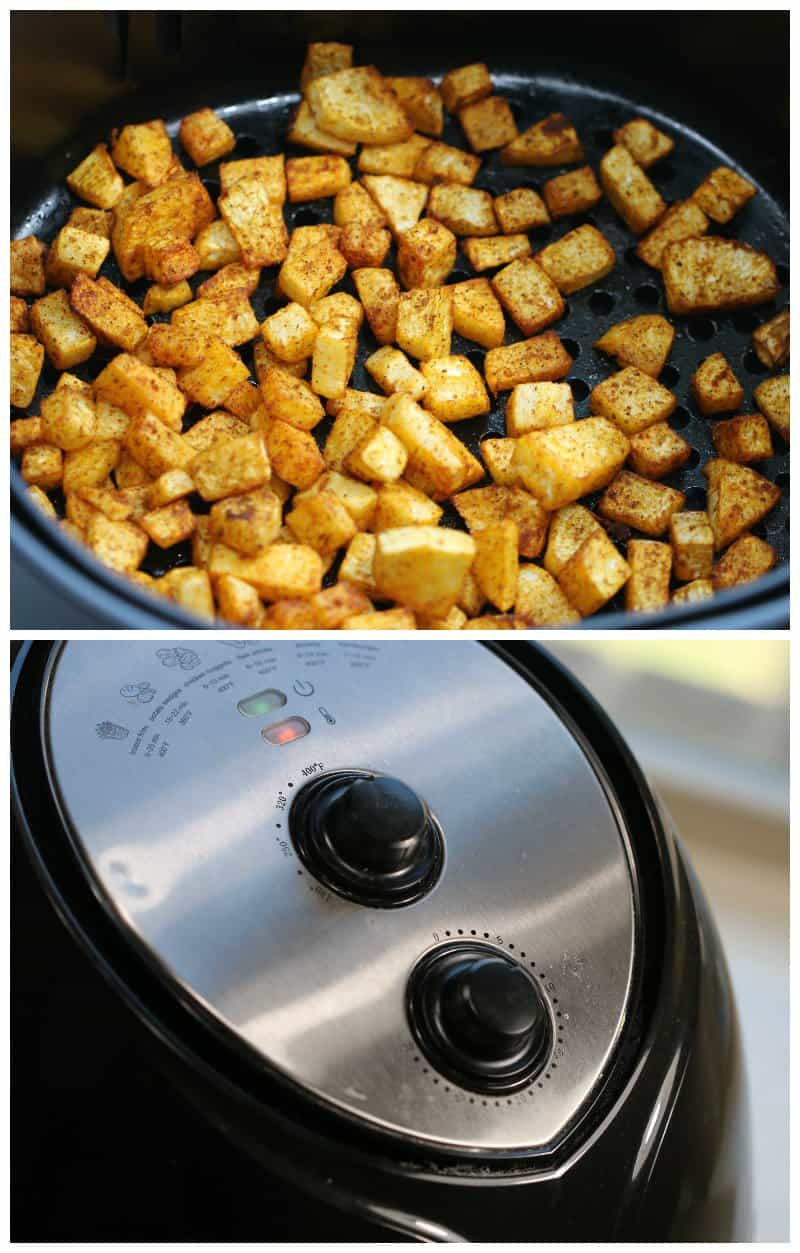 Air Fryer Instructions for Roasted Turnips Hash Browns