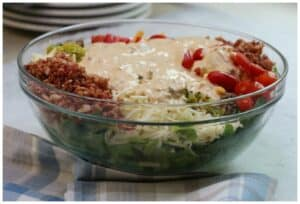Keto Big Mac Cheeseburger Salad recipe