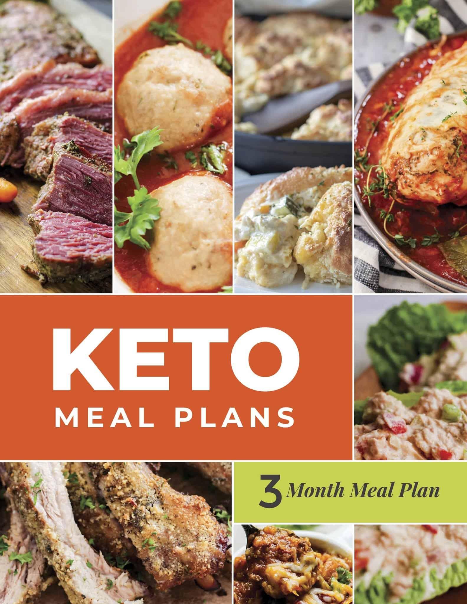 Keto meal plan 3 month printable download