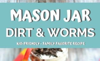 This mason jar dirt and worms recipe is AMAZING! It's the perfect treat for kids after school or on a warm summer day. I don't know about your kids, but mine love these!