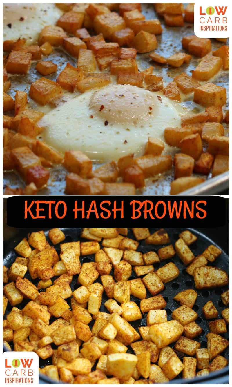 Roasted Turnips Hash Browns aka Keto Hashbrowns