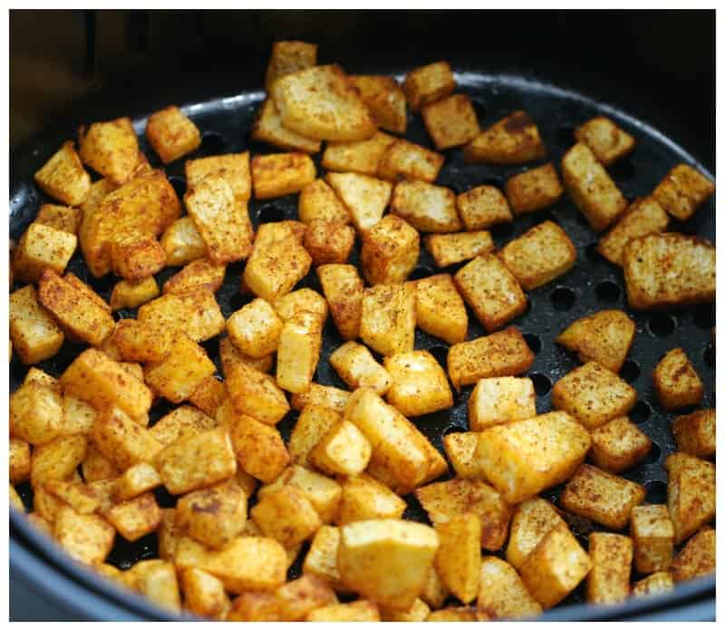 Roasted Turnips Hash Browns made in the air fryer