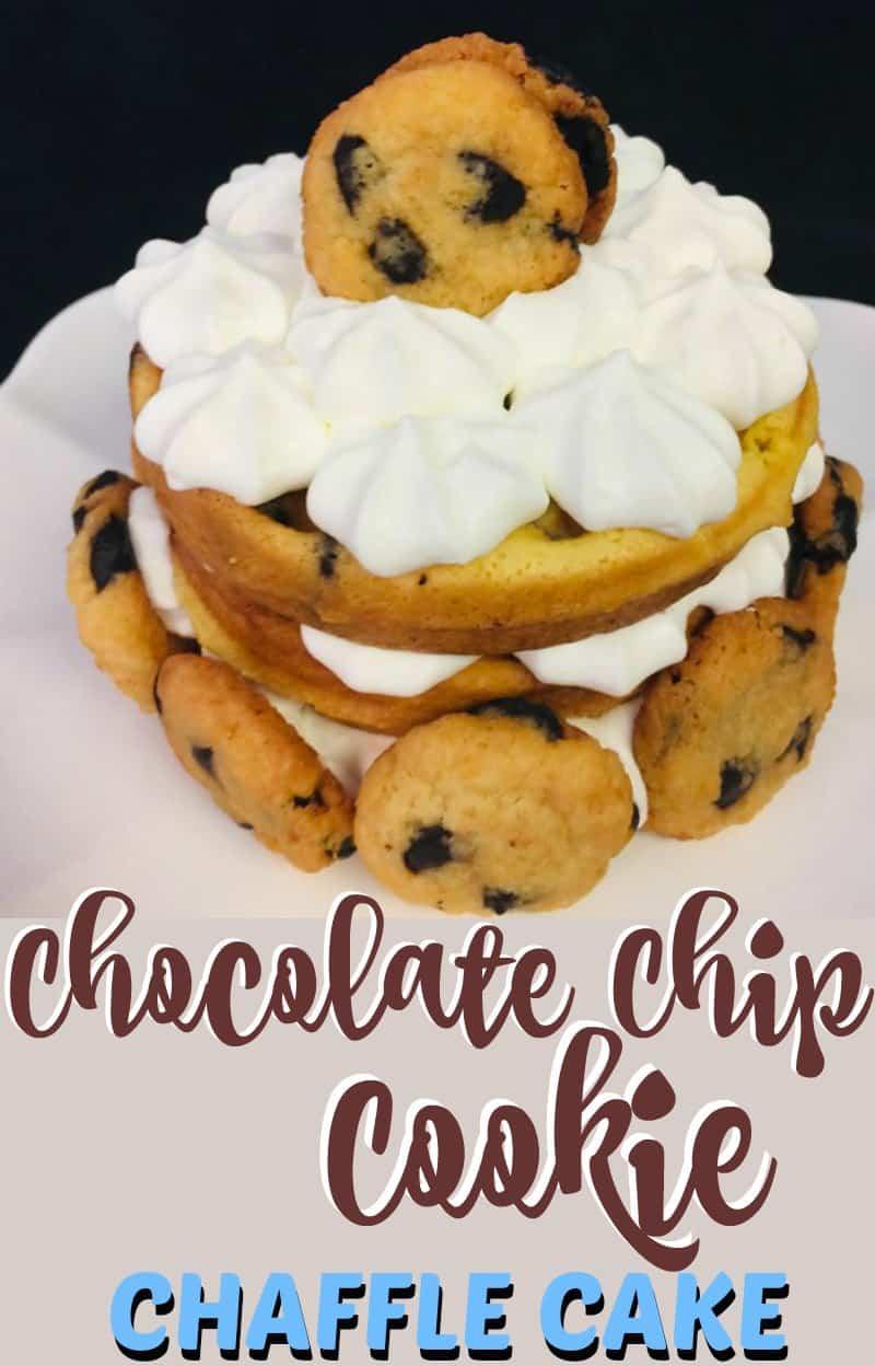 Chocolate Chip Cookie Chaffle Cake recipe