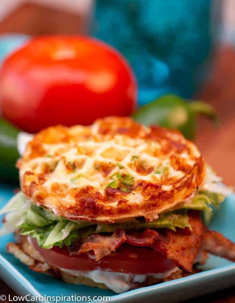 Keto BLT Chaffle Sandwich Recipe