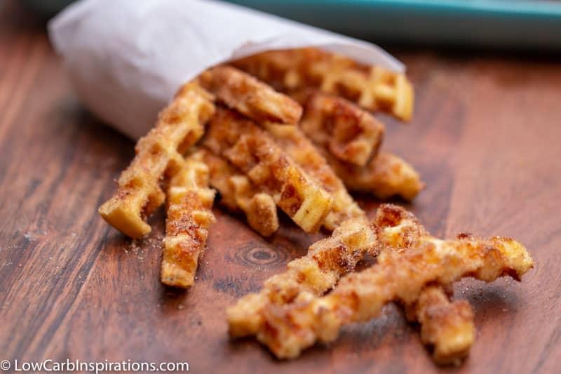 Keto Chaffle Churro Recipe-5
