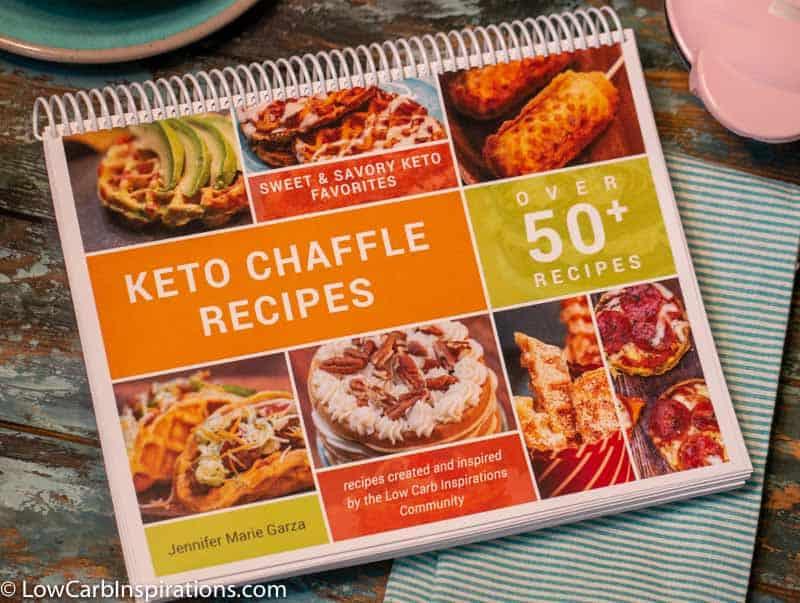 Keto Chaffle Recipes COOKBOOK ebook printable that has over 50 recipes