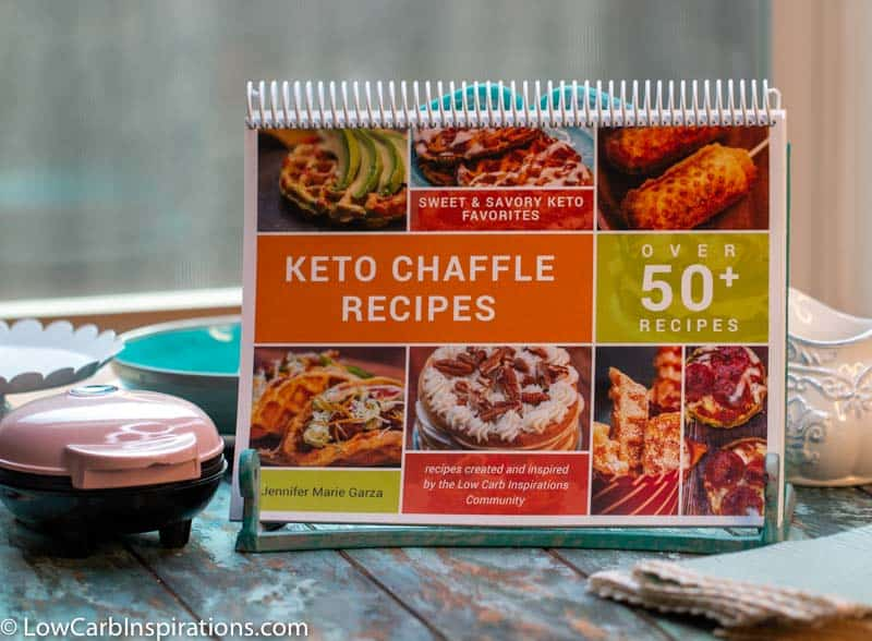 Keto Chaffle Recipes COOKBOOK ebook printable that has over 50 recipes