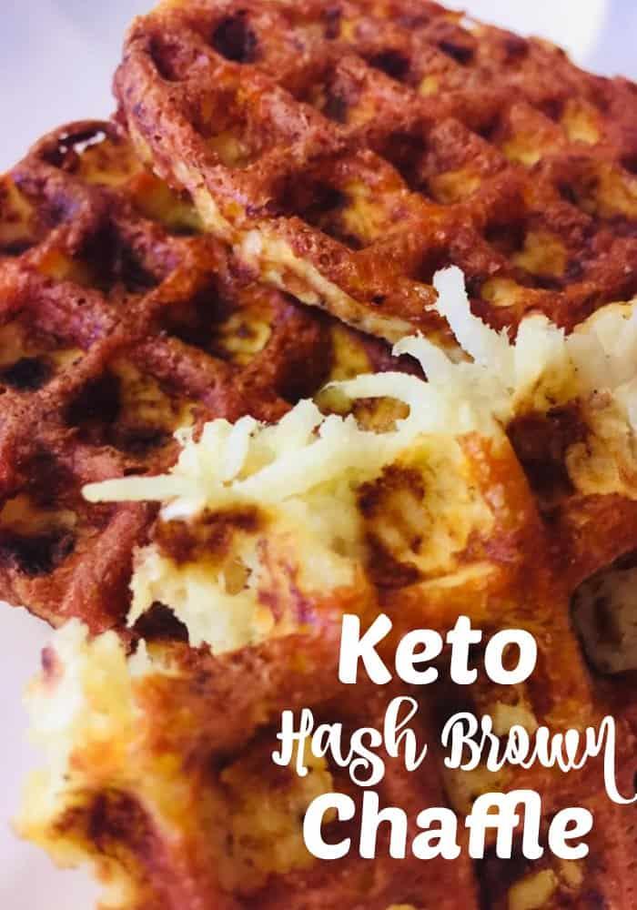 Keto Jicama Hash Brown Chaffle Recipe