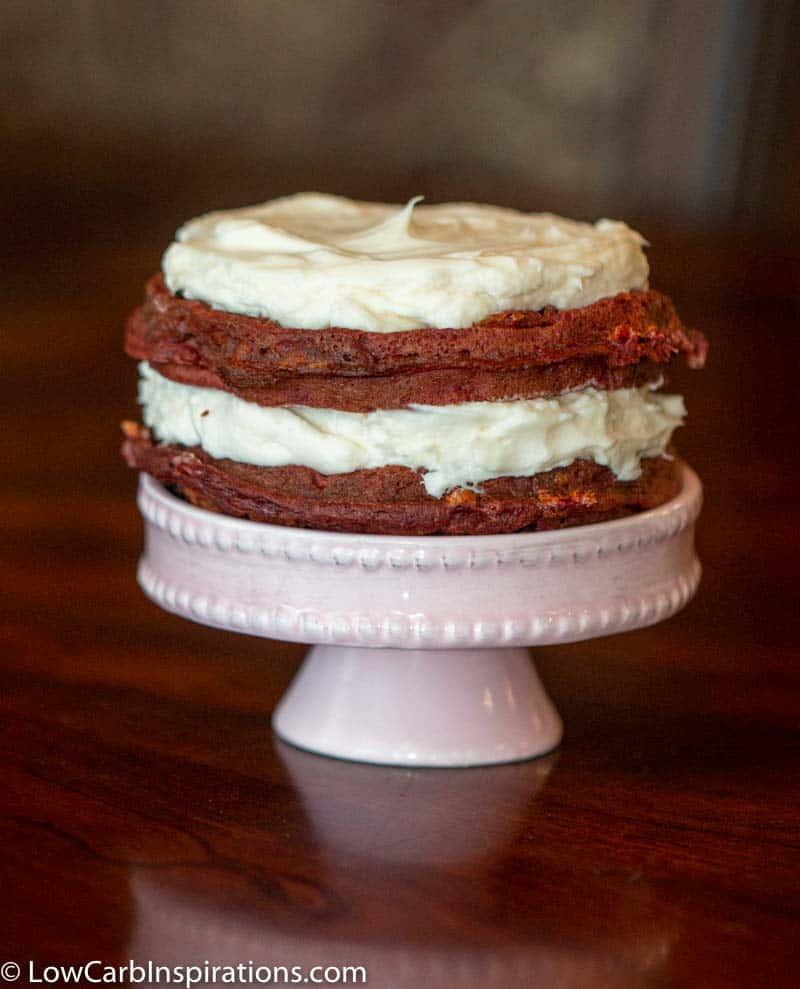 Keto Red Velvet Cake Chaffle Recipe