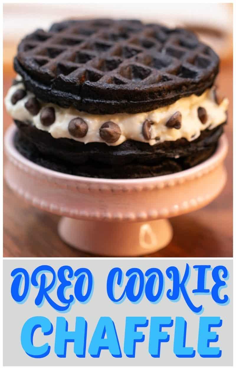 OREO COokie Chaffle Recipe pinterest