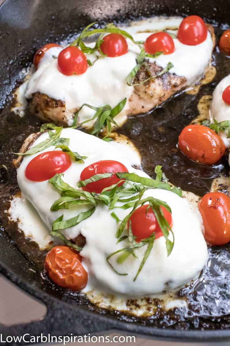Keto Baked Chicken Caprese Recipe