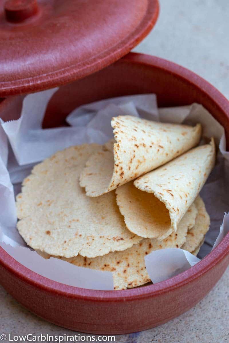 Easy Keto Tortilla Recipe made with almond flour