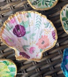 Decoupage Seashells DIY